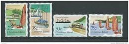 Christmas Island 1983 Boat Club Set Of 4 MNH - Christmas Island