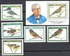 Cuba 1996 Juan C. Gundlach (1810-1896), Ornithologist MNH Scott 731-3736 Value $8.50 - Naturaleza