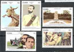 Cuba 1996 Maj. Gen. Antonio Maceo (1845-1896) MNH Scott 3780-3784 Value $4.05 - Militares