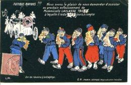 Militaria Humour - Enterrement De La Classe - Père Cent - Humour