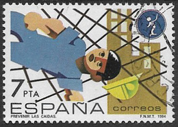 Spain SG2752 1984 Safety At Work 7p Good/fine Used [40/32506/6D] - 1981-90 Used