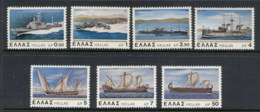Greece 1978 New & Old Greek Naval Ships MUH - Greece
