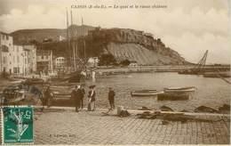 """/ CPA FRANCE 13 """"Cassis, Le Quai Et Le Vieux Château"""" - Cassis"""