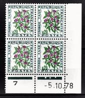 FRANCE 1960 / 1983 - BLOC DE 4 TT / Y.T. N° 98  - COIN DE FEUILLE / DATE / NEUFS** - Angoli Datati