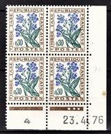FRANCE 1960 / 1983 - BLOC DE 4 TT / Y.T. N° 99  - COIN DE FEUILLE / DATE / NEUFS** - Angoli Datati