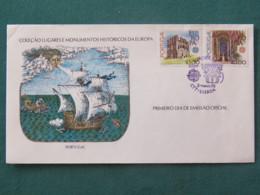 Portugal 1978 FDC Cover - EUROPA CEPT Historic Monuments Ship - 1910-... République