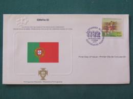 Portugal 1982 FDC Cover - Football Soccer España 82 - Flag - 1910-... République