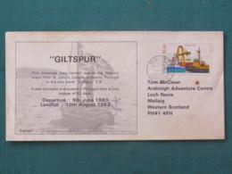 Portugal 1983 Special Cover Carried On Ship Giltspur Around The World To Scotland - Ship Harbor - 1910-... République