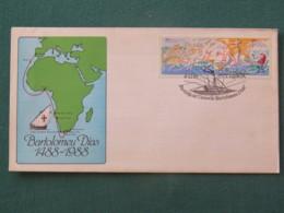 Portugal 1987 FDC Cover - Map Ship Bartolomeo Dias Travel Around Africa - 1910-... République