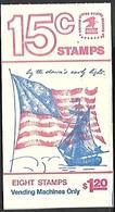 US  1978   Sc#BK130   Booklet Of 8 Flag Stamps MNH   Face $1.20  Unopened - 2. 1941-80