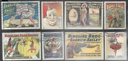 US  2014  Sc#4898-4905 Ringling Bros Set Used - United States