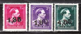 724U/W**  Leopold III Col Ouvert Surchargé GHISLENGHIEN - Série Complète - MNH** - COB 34.50 - Vendu à 12.50% Du COB!!!! - 1946 -10%