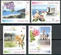 Cuba 1996 Tourism Views Flowers MNH Scott 3761-3764 Value $5.05 - Otros