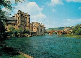 Espalion Le Pont Vieux Et Le Chateau 1977 CPM Ou CPSM - Espalion