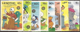 Lesotho,  Scott 2018 # 502-511,  Issued 1985,  Set Of 8 + 2 S/S,  MNH,  Cat $ 28.80,  Disney - Lesotho (1966-...)