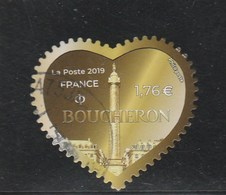 FRANCE 2019 COEUR BOUCHERON ADH 1.76 EURO OBLITERE - Adhésifs (autocollants)