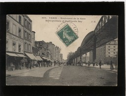 Paris Boulevard De La Gare Métropolitain Et Raffinerie SAY édit. J.H. N° 693 , Hôtel De La Paix - Arrondissement: 13