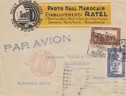 French Colonies Maroc 1934: Casablanca Mit Luftpost Hannover To Braunschweig - Maroc (1956-...)