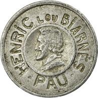 Monnaie, France, MICHELET O., Pau, 10 Centimes, TTB, Aluminium, Elie:50.2 - Monétaires / De Nécessité