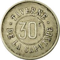 Monnaie, France, Taverne De La Capitale, Paris, 30 Centimes, TTB, Maillechort - Monétaires / De Nécessité