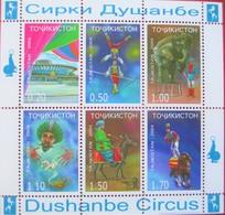 Tajikistan  2004  Dushanbe  Circus  Perforated  M/S  MNH - Zirkus