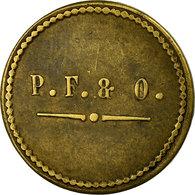 Monnaie, France, Perret Frères & Olivier, Sain-Bel, 5 Centimes, TTB, Laiton - Monétaires / De Nécessité