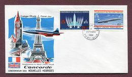 """ PROJET CONCORDE FRANCO-ANGLAIS ""  1968 - FDC"