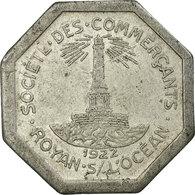 Monnaie, France, Société Des Commerçants, Royan, 25 Centimes, 1922, TTB - Monétaires / De Nécessité