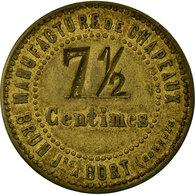 Monnaie, France, Manufacture De Chapeaux, BRUN Jne., Bort-les-Orgues, 7-1/2 - Monétaires / De Nécessité