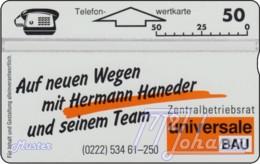 AUSTRIA Private: *Universale Bau* - SAMPLE [ANK P222] - Austria