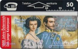 """TWK Österreich Privat: """"1000 J. Österreich - Junges Kaiserpaar"""" Gebr. - Austria"""