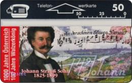 """TWK Österreich Privat: """"1000 J. Österreich - J. Strauss Sohn"""" Gebr. - Austria"""