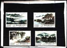 5925BIS ) CINA (TAIWAN) - 1977 Dipinti Di Paesaggio (2nd Serie) - U/M-SG 1139-42  -MNH** - 1945-... Republic Of China