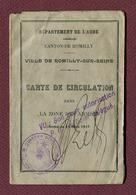 "ROMILLY-SUR-SEINE (10) : "" CARTE DE CIRCULATION "" - Documents"