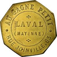 Monnaie, France, Au Gagne Petit, Rue Joinville, 63, Laval, 0.25 Centimes, SUP+ - Monétaires / De Nécessité