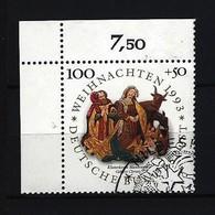 BUND Mi-Nr. 1708 Eckrandstück Links Oben Weihnachten Gestempelt - BRD