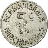 Monnaie, France, Coopérative Militaire, Pau, 5 Centimes, TTB+, Aluminium - Monétaires / De Nécessité