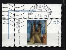 BUND Mi-Nr. 2294 Linkes, Oberes Eckrandstück Deutsche Malerei Des 20. Jahrhunderts Gestempelt (4) - BRD