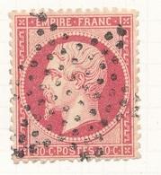 N°24NUANCE ET OBLITERATION. - 1862 Napoleon III
