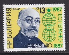 TIMBRE NEUF DE BULGARIE - CENTENAIRE DE L'ESPERANTO N° Y&T 3070 - Esperanto