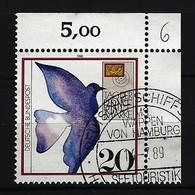 BUND Mi-Nr. 1328 Eckrandstück Rechts Oben Tag Der Briefmarke Gestempelt - Gebraucht