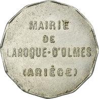 Monnaie, France, Mairie, Laroque D'Olmes, 25 Centimes, TTB+, Aluminium - Monétaires / De Nécessité