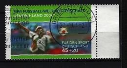 BUND Mi-Nr. - 2324 Rechtes Randstück Nationalspieler Beim Volleyschuss Gestempelt - BRD