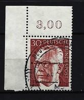 BUND Mi-Nr. 638 Eckrandstück Rechts Oben Heinemann Gestempelt - BRD