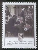 Edward Jenner, Physician, Smallpox Vaccination, Initiated In Berkeley Lodge, Freemasonry, MNH Maldives - Medicina