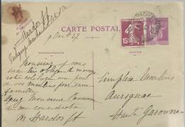 CARTE POSTALE  PULIGNY  MOUTRACHET 1937 - Enteros Postales