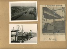 Vilvoorde - Vilvorde : 27 Foto's (12.5 X 9 Cm  :  September 1971 + Knipsel   ) De Nieuwe Brug - Le Nouveau Pont - Places