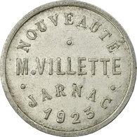 Monnaie, France, Nouveautés, M. VILETTE, Jarnac, 25 Centimes, 1923, TTB+ - Monétaires / De Nécessité