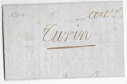 1808 - RECLAMATION D'ARTICLES De RIBERAC (DORDOGNE) => TURIN (DEPARTEMENT CONQUIS) Via PERIGUEUX, LIMOGES, MOULINS, LYON - 1792-1815: Conquered Departments