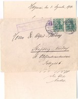 GUERRE 14-18 CACHET CENSURE HAGENAU P K GEPRÜFT  TàD HAGENAU 4.12.14  ( HAGUENAU ) ALSACE Sur LETTRE Avec COURRIER - Marcophilie (Lettres)